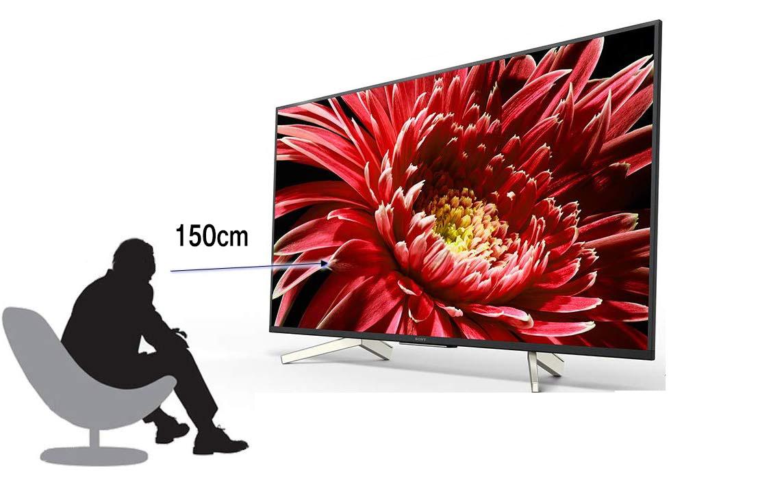 おすすめ視聴距離 150㎝(テレビの高さ×3倍を推奨)(※40型テレビの場合)