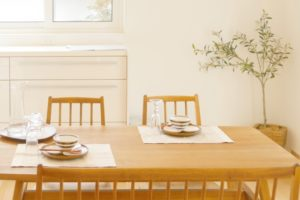 角丸タイプのテーブル