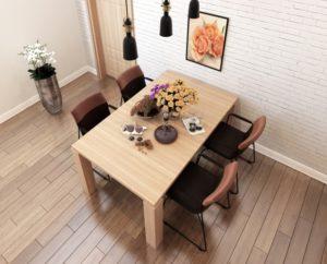 角形タイプのテーブル