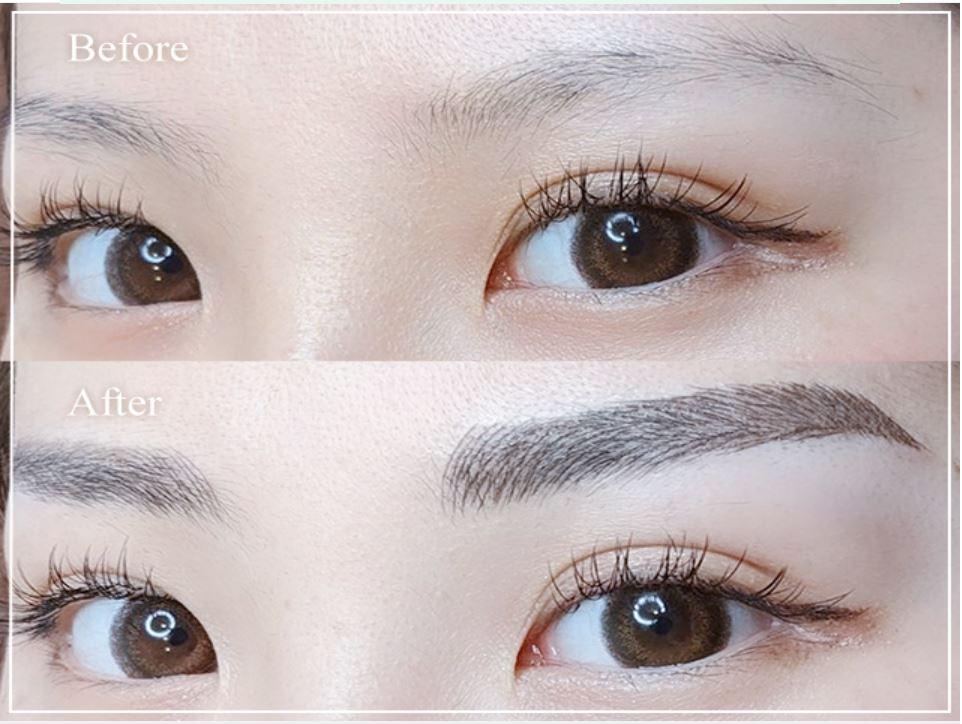 ビューティーストロークの眉毛アートメイク施術例