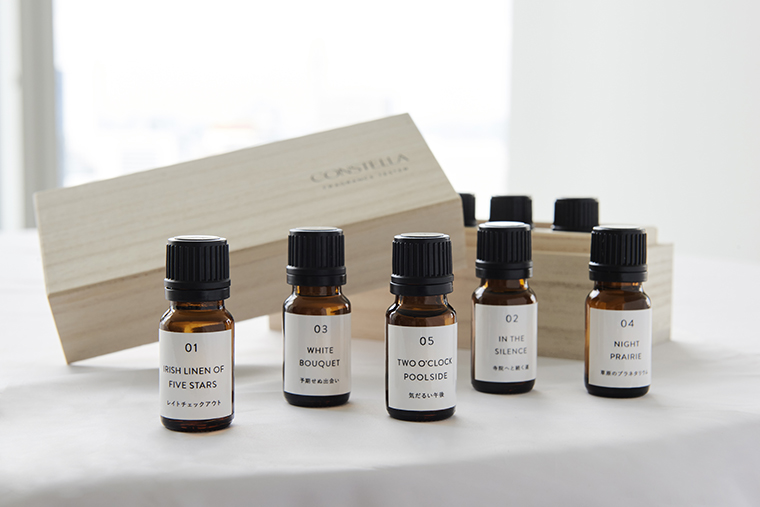旅のワンシーンを想起させる5種類の香り